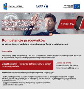 2. Zarządzanie kompetencjami - zaproszenie z grafiką